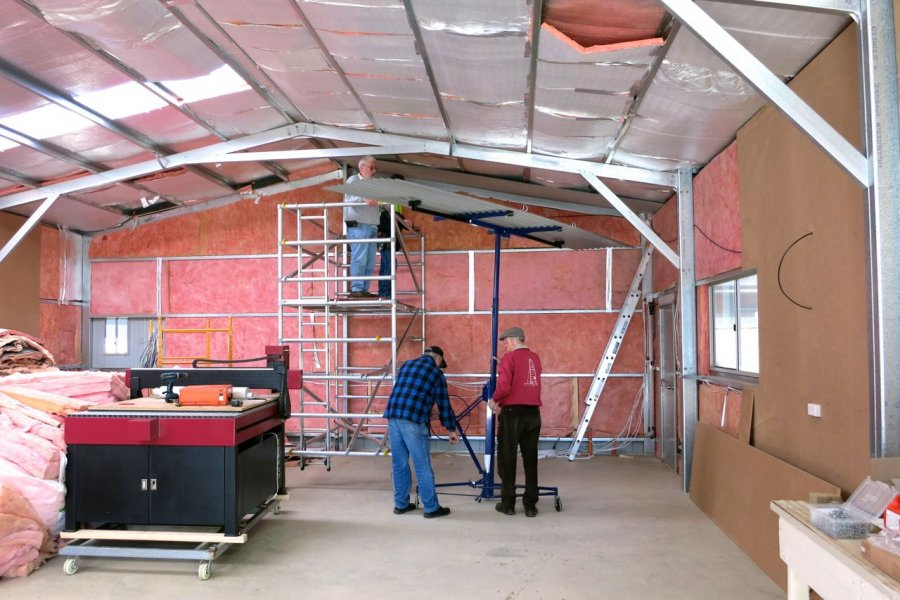 How To Line A Roof Belconnen Community Men S Shed